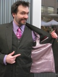 Rob - proving that real men can wear lavender.