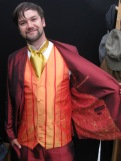 Sebastian ordered this outfit for his wedding - silk and satin baby...