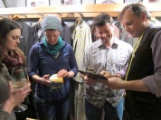 Dan will buy you a drink as you peruse the many fabrics and styles available!