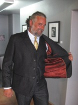 Blair could hardly believe his new look when he tried on this classic combo.   Lookin' sharp Blair.