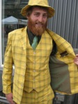 This Spike Jones inspired suit stands out in a crown...note the matching hat!